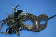Black Glamour Mask with Flower